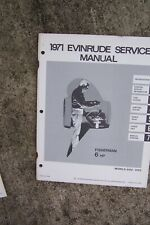 1971 Evinrude 6 HP Fisherman 6102 6103 Outboard Service Manual MORE IN STORE. U