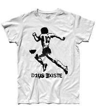 T-shirt uomo D10S EXISTE DIEGO ARMANDO MARADONA DIO ESISTE NAPOLI ARGENTINA