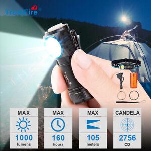 TrustFire MC12 Led Linterna linterna frontal 1000 lúmenes con batería de 16340