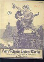 """"""" Am Rhein beim Wein """" für Violine"""