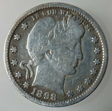 More details for united states quarter dollar 1898 silver (.900) coin - barber