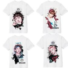 Kpop BTS Cartoon T-shirt Rap Monster Bangtan Boys Suga V Cute Unisex Tee Shirts