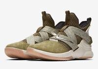 Men's Nike Lebron Soldier XII Basketball Olive/Green Sizes 8-12 NIB AO2609-300
