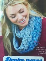 KNITTING PATTERN Debbie Bliss Ladies Cable Patterned Neck Cowl Scarf PATTERN