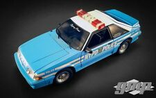 NYPD 1988 FORD MUSTANG GT POLICE CAR 5.0 DIECAST GMP 1:18 ACME BLUE WHITE