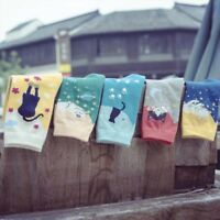 Casual Lovely Cat Animal Comfortable Crew Cotton Socks Gift