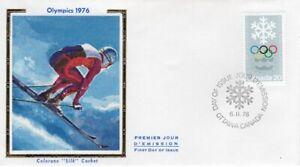 """CANADA """"COLORANO""""  FDC # 689  SILK  """" WINTER OLYMPICS 1976 """""""
