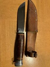 Kabar Ka-Bar Fixed Blade Sheath Vintage Knife 1205 USA w/ Sheath  *Rare*
