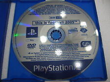 PS2 PLAYSTATION 2 SONY PROMO THIS IS FOOTBALL 2005 RARE