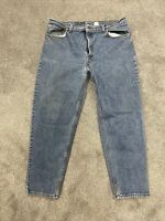 Levis Mens 550 Relaxed Tapered Blue Jeans Tag Size 42x30 USA MADE Vintage