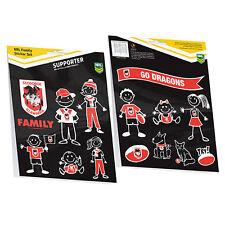 Licensed NRL St George Dragons FAMILY Car Sticker Sheet 14 Images Birthday Gift