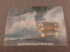Brochure Lancia Fulvia coupé Monte-Carlo