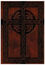 NEW Blank Brown Celtic Cross Diary Lined Writing Journal Notebook Leather Like