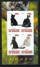 KL5965 MNH 2010 Imperf S/S 4 Diff Cats Burmese Persan Norvegien & Americal Curl
