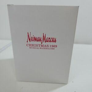 Neiman Marcus Dept 56 Christmas Musical Snow Globe Lady With Fur & Santa Base