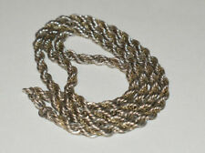 Tiffany &Co Twisted 18K Gold & Sterling Silver Twisted Rope Necklace Vintage 18""