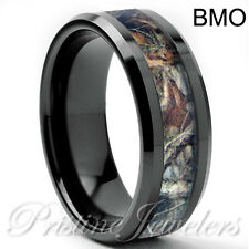 Tungsten Carbide Ring Comfort Fit Wedding Band Mens Silver Gold Black Celtic 8mm
