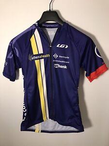 Louis Garneau Women's Size M Full Zip Cycling Jersey w/Logos-USA Made-NEW