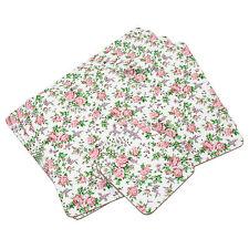 Set di 4 Tovagliette e Sottobicchieri in Sughero Tavola coperti Mats Vintage Rosa Floreale