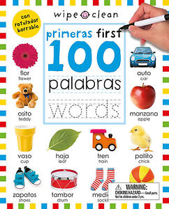Wipe Clean primeras First 100 Palabras Words (Paperback) FREE ship $35