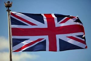 LARGE Union Jack Flag Great Britain British GB Sports Olympics Support 5 X 3FT