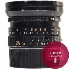 Leica M 24mm f/2.8 Elmarit ASPH Rangefinder Lens -- USED