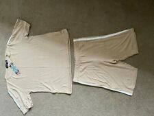 Bnwt Boohoo Beige T shirt and matching cycling shorts size Uk 6