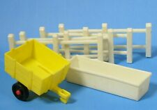 Vintage 1967 Fisher Price Little People Play Family Farm Fence Hay Wagon Trough