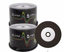 200 Xlayer Black Bottom Vinyl CD-R blank discs White Printable CD 48x 700MB