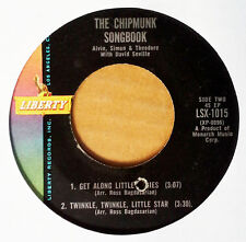 CHIPMUNKS - CHIPMUNK SONGBOOK - LIBERTY 1015 - EXTENDED PLAY - ALVIN TWIST + 3