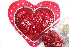 Herz Deko selber besticken Stickpackung mit Perlen  Pailletten Komplett 449