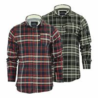 Brave Soul Tame Mens Check Shirt Flannel Brushed Cotton Long Sleeve Casual Top