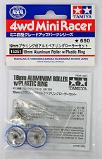 Tamiya 15251 Mini 4Wd 19mm Aluminum Roller w/Plastic Ring