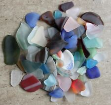 "1 pound tumbled NEW ""Beach"" glass Hearts, Art Glass, Great colors, LARGE pieces"