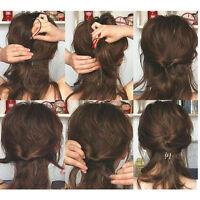 4pc Set Hair Styling Clip Bun Maker+Topsy Tail Braid Ponytail Tool Infinity Best