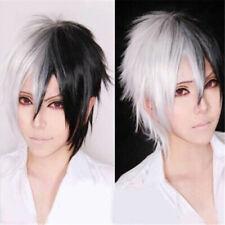 Danganronpa monokuma Black white Short Cosplay Anime party Hair Wig heat OK!