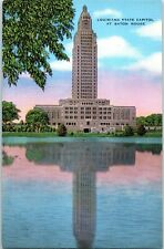 """Postcard LA Louisiana State Capitol Baton Rouge """"Tallest Building in the South"""""""