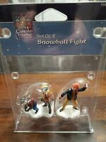 Lemax Carole Towne Collection Snowball Fight Set Of 2 Model 22554            B13