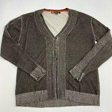 Retrofit Sweater Cardigan Mens XXL Brown V-Neck Long Sleeve Casual