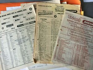 TRIANG AUSTRALIAN PRICE LISTS1965 TRADE LIST 1954 SPARE PARTS LISTS 1072 30 PLUS