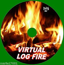 VIRTUAL CRACKLING LOG FIRE VIDEO DVD 9 GLOWING FIRE SCENES 4 LED /PLASMA TVs NEW