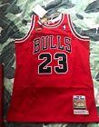 Chicago Bulls Authentic Michael Jordan NBA Finals Mitchell&Ness Red Jersey