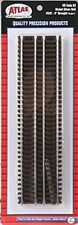 "Atlas #520 HO Scale  9"" Straight Track (6-pack) - Code 83 Rails"