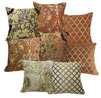 Damask Checked Flower Plant Match Color Cotton Blend Cushion Cover/Pillow Case