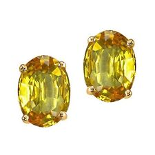 1.00-3.50CT WOMENS STYLISH 14K YG CITRINE OVAL SHAPE STUD EARRINGS PUSHBACK