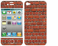 COQUE  iphone 4 EN RESINE 3D STICKERS REPOSITIONNABLE MUR DE BRIQUE N° 53