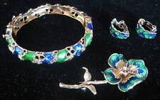 14K Gold Enamel & Diamond Fine Jewelry Set    MAGNIFICENT MUST LOOK