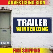 Trailer Winterizing Advertising Banner Vinyl Mesh Decal Sign Camper Rv Repair