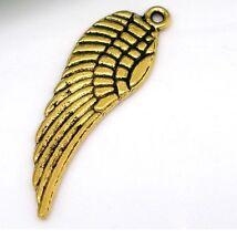 Lot 5 Pendentif Aile D'ange Couleur Doré, Pendant, Cretion collier, bijoux