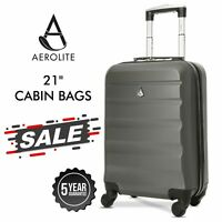 Aerolite Ryanair easyJet Cabin Carry On Hard Shell Case Hand Cabin Bag Suitcase